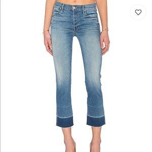 Mother Undone Hem Tootsie Rumor Has It Jeans